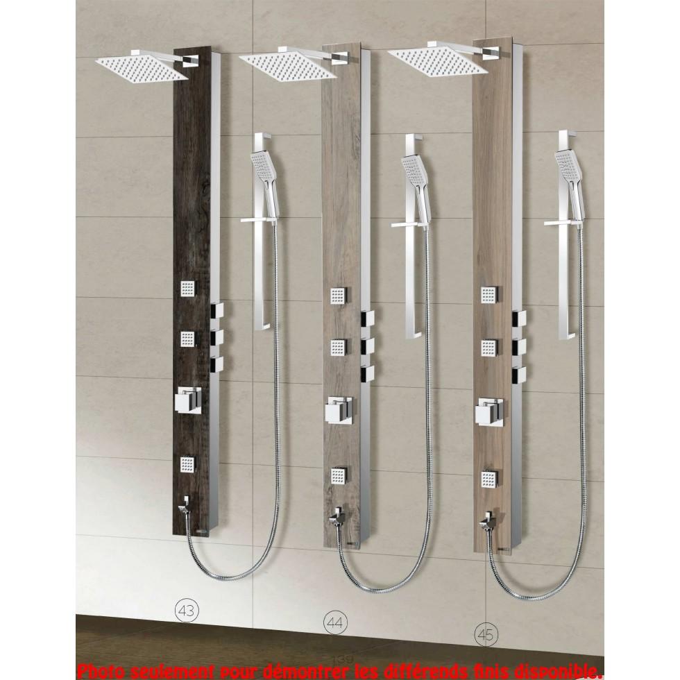 colonne de douche verre tremp 3 fonctions quantum plomberie beaulieu. Black Bedroom Furniture Sets. Home Design Ideas